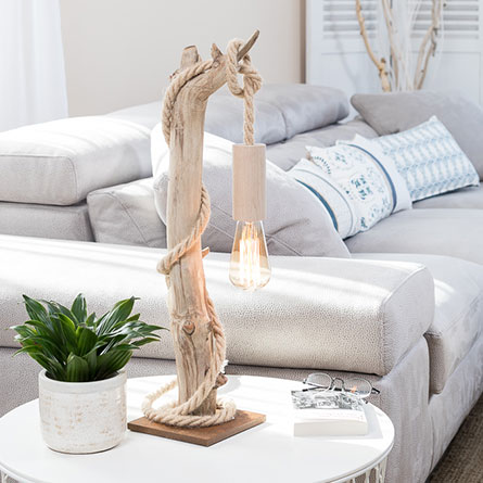 Catégorie lampes en bois flotté