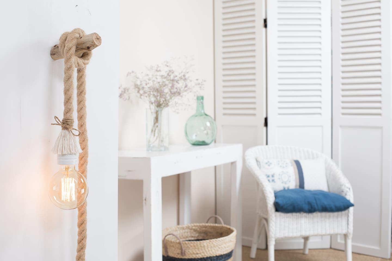 baladeuse corde jute xxl douille porcelaine blanche. Black Bedroom Furniture Sets. Home Design Ideas